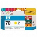 HP 70 Designjet Printer Ink Print Cartridge - Yellow
