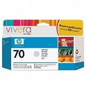 HP 70 Designjet Printer Ink Print Cartridge - Light Gray
